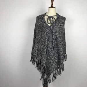 Nasty Gal Sweaters - Nasty Gal Poncho Fringed Sweater